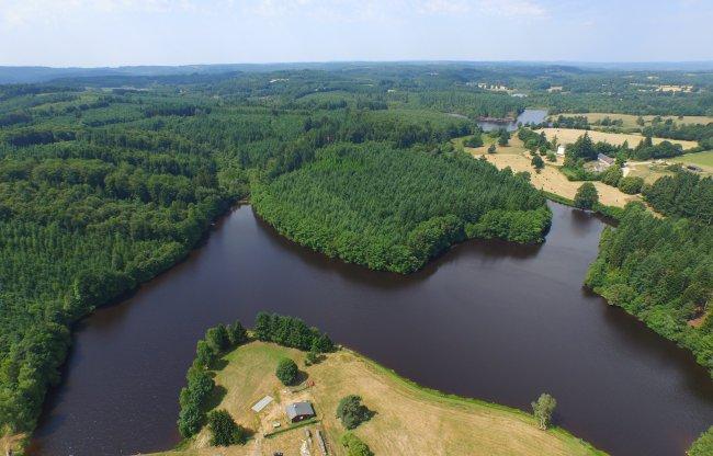Vue aérienne de l'étang