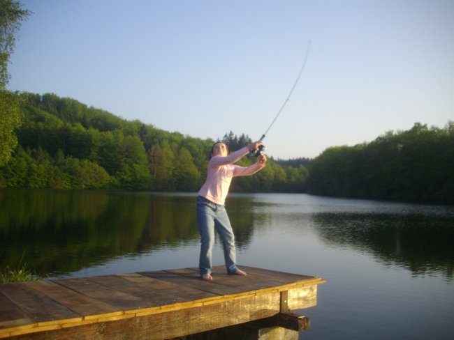 Pêche à l'étang de Flayat