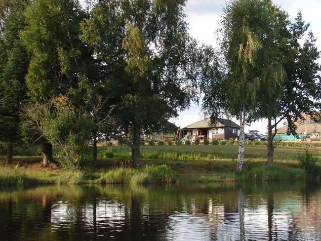 Vue du Chalet depuis l'étang