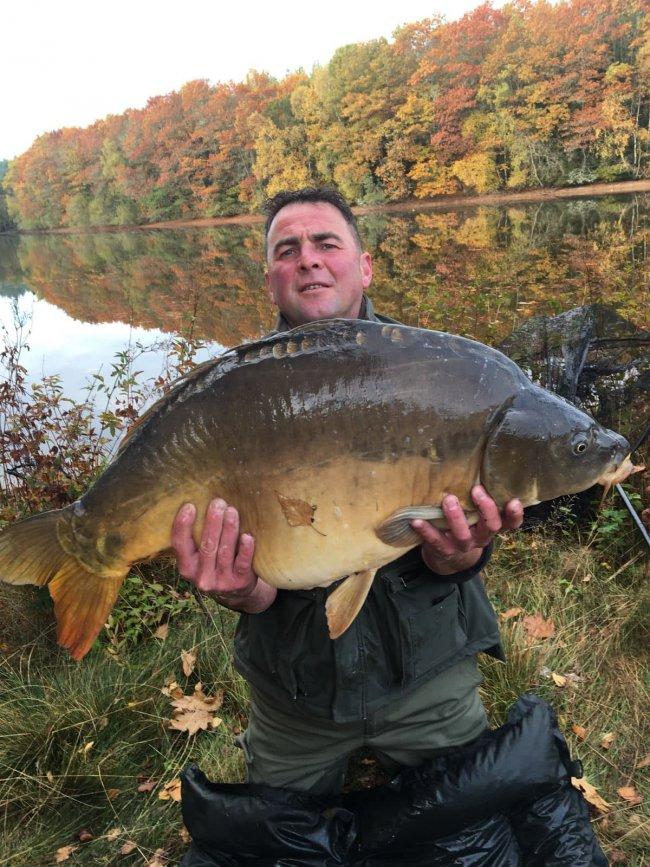 Nicolas octobre 2018 carpe de 15 kg pour la plus grosse